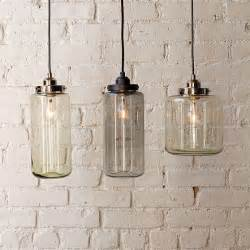 Glass Pendant Lights For Kitchen Glass Jar Pendants Contemporary Pendant Lighting By West Elm