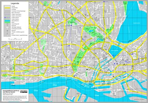 Hamburg Karte by Impressum