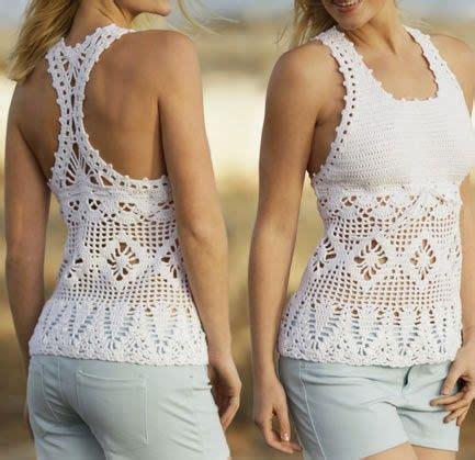 Xaun Tunik hermosa polera o top veraniego tejido a crochet talla s