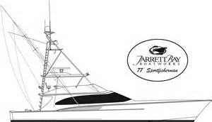 Sport Fishing Boats Line Drawing Sketch Coloring Page sketch template
