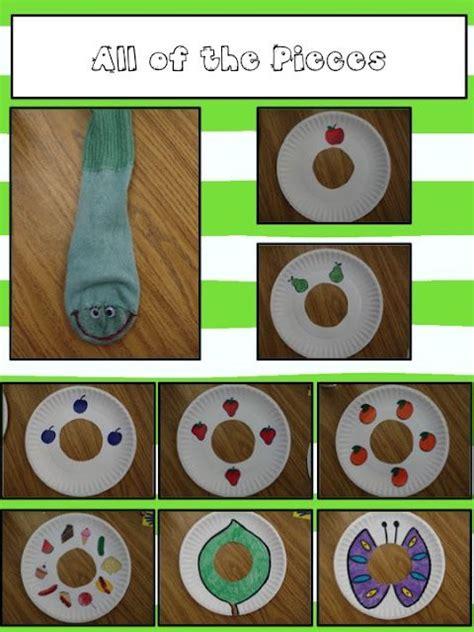 caterpillar sock puppet craft diy hungry caterpillar storytelling set create a