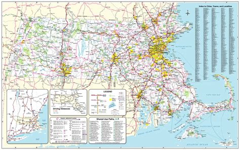 mass map official massachusetts transportation map traffic travel resources highway division