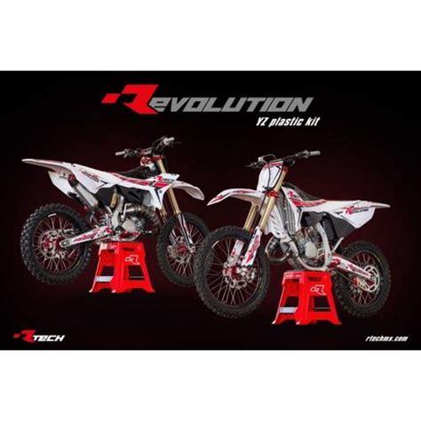 Set Yamaha Yz125 250 Rtech Revolution rtech revolution kit yz125 yz250 2002 2017 white black