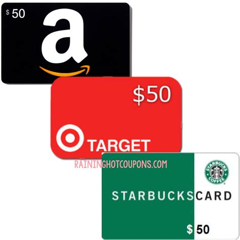 Amazon Target Gift Card - i am giving one of you a 50 gift card to amazon target or starbucks