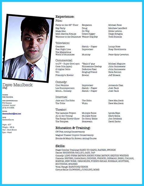 actor resume template boost career actor resume template to boost your career check