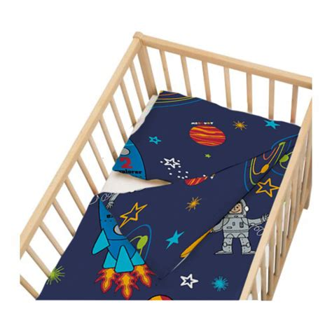 space crib bedding cot crib size duvet cover set space boy planets rocket