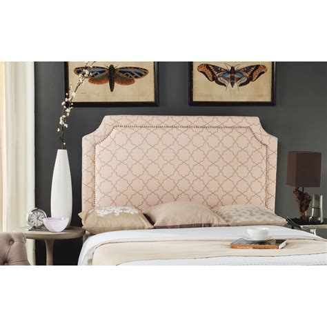 pink headboard queen safavieh shayne pale pink beige queen headboard mcr4622l