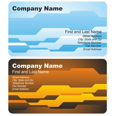 vector for free use corporate business card template