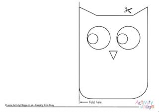 printable owl holding a card from template large bird templates for crafts
