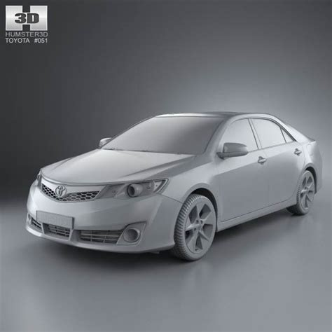 Toyota Camry 2012 Model Pictures Toyota Camry Us Se 2012 3d Model Hum3d