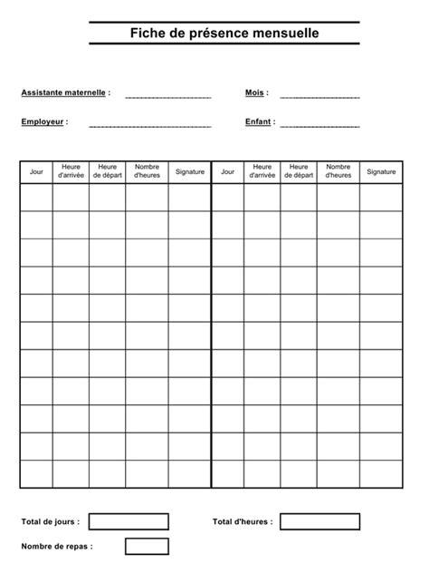 Calendrier Cspo Exemple Feuille De Presence Mensuelle Document