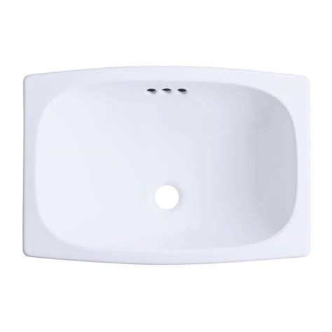 white kitchen sink drain sterling stinson drop in vitreous china bathroom sink in