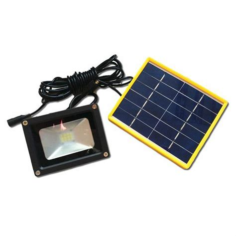 outdoor light battery waterproof solar powered led flood light with 5m