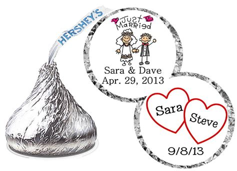 324 wedding favors hershey kiss labels ebay