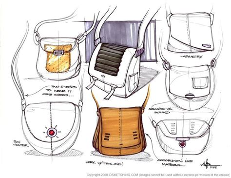Sketches Bags by Bag Sketches Andres Parada Industrial Design Sketching