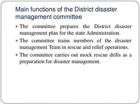 Mba In Disaster Management Syllabus by Of Government In Disaster Management At Central Tam
