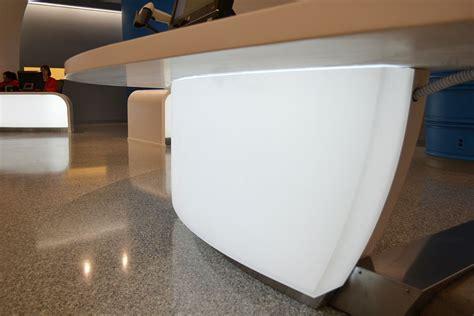 illuminated reception desk backlit curved 3form reception desks led backlighting