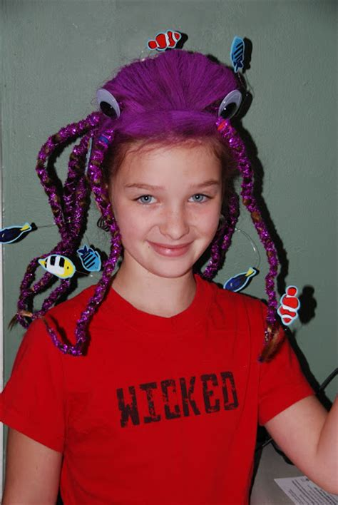 octopus haircut for long hair pictures great crazy hairstyles for quot wacky hair day quot at school