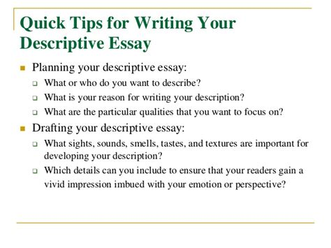 Writing Descriptive Essays by Descriptive Essay Exles About Food