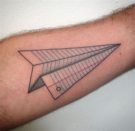 paper tattoo designs best 25 paper airplane tattoos ideas on small