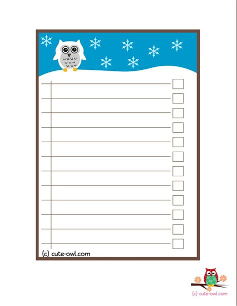 Beautiful What To Do In Christmas #4: Ca2b07c70a80ed651670354f17350e1c--baby-shower-checklist-owl-templates.jpg