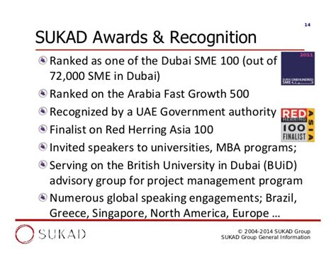 In Dubai For Mba Operations by Sukad General Information