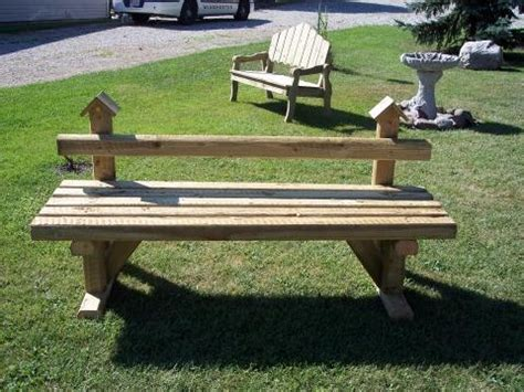 Landscape Timber Bench Plans Timber Birdhouse Bench Jpg 480 215 360 In The Garden