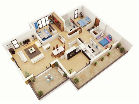 office building floorplans home interior design 25 more 3 bedroom 3d floor plans 8 clipgoo