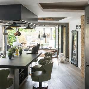 ideas for kitchen diners green and wood kitchen diner modern kitchen ideas