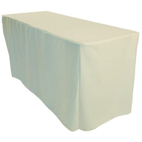 how to a tablecloth for a rectangular table 4ft white rectangular fitted polyester trestle table