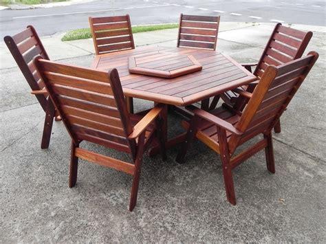 hexagon patio table  chairs modern outdoor ideas black