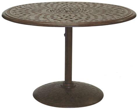 42 Pedestal Dining Table Patio Furniture Dining Set Cast Aluminum 42 Quot Pedestal Table 5pc Santa Barbara