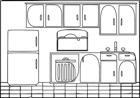 kitchen layout clipart clean kitchen clipart black and white clipartxtras
