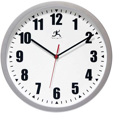 Office Wall Clocks silver office wall clock by infinity instruments office