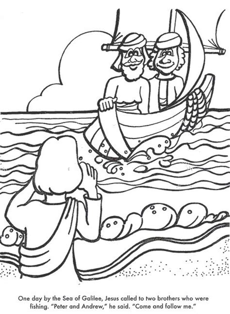 coloring page jesus and his disciples let s go jesus picks his disciples sunday school