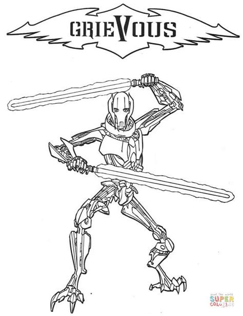 coloring pages magnaguard general grievous coloring page free printable coloring pages