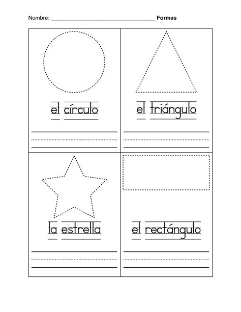 free coloring pages of shapes and colors in spanish