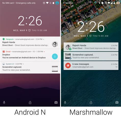 android lock screen notifications on with android n increased customization better notifications and more ars technica