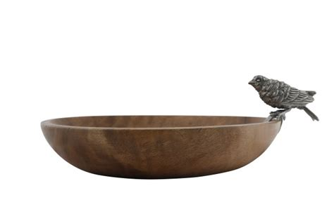 vagabond house wood bowl song bird bath