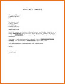 7  resignation letter sample doc personal reason   handy