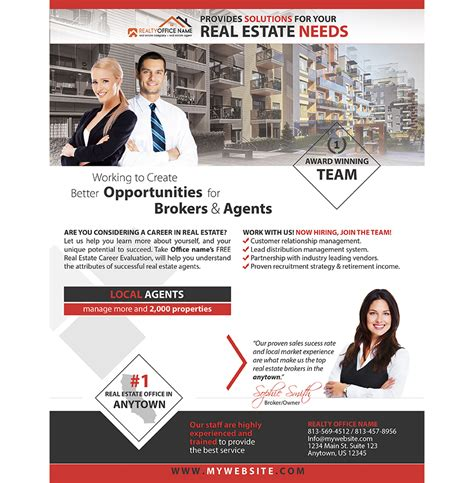 realtor flyer realtor realty agency brochure template