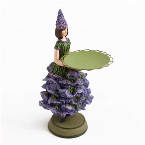 deco figurine flower lavender with candle