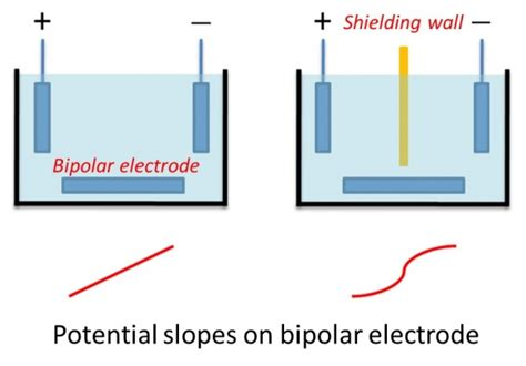 porous diatomite immobilized cu ni bimetallic measurements of potential on and current through bipolar