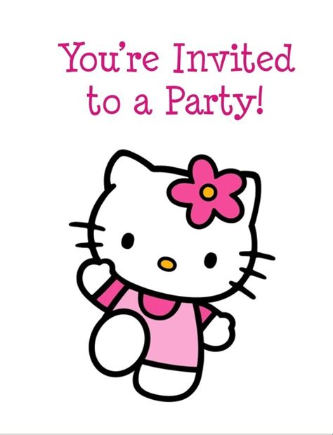 printable birthday cards hello kitty free hello kitty free printable birthday party invitation