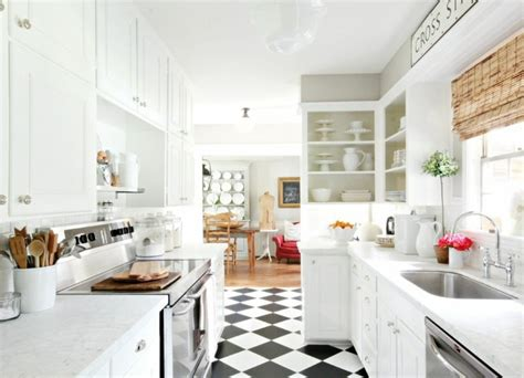 cuisine sol blanc carrelage cuisine en noir et blanc 22 int 233 rieurs inspirants
