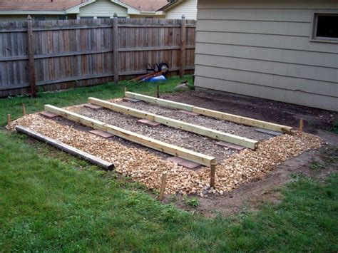 shed foundation plans   build diy
