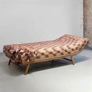 Wooden Daybed Designs A New Tactile Design Experience Quilted Wood Daybed By