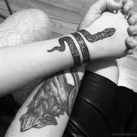 black and white wrist tattoos 33 magnifying snake tattoos on wrist