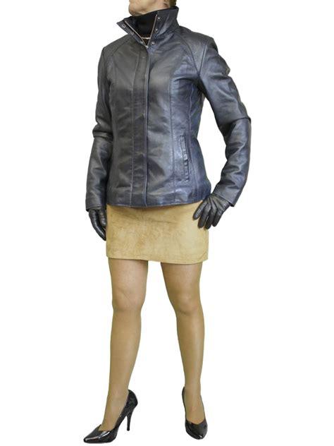 Luxurius Jacket womens luxury leather jacket with high collar tout ensemble