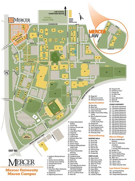 college map cus map mercer admissions